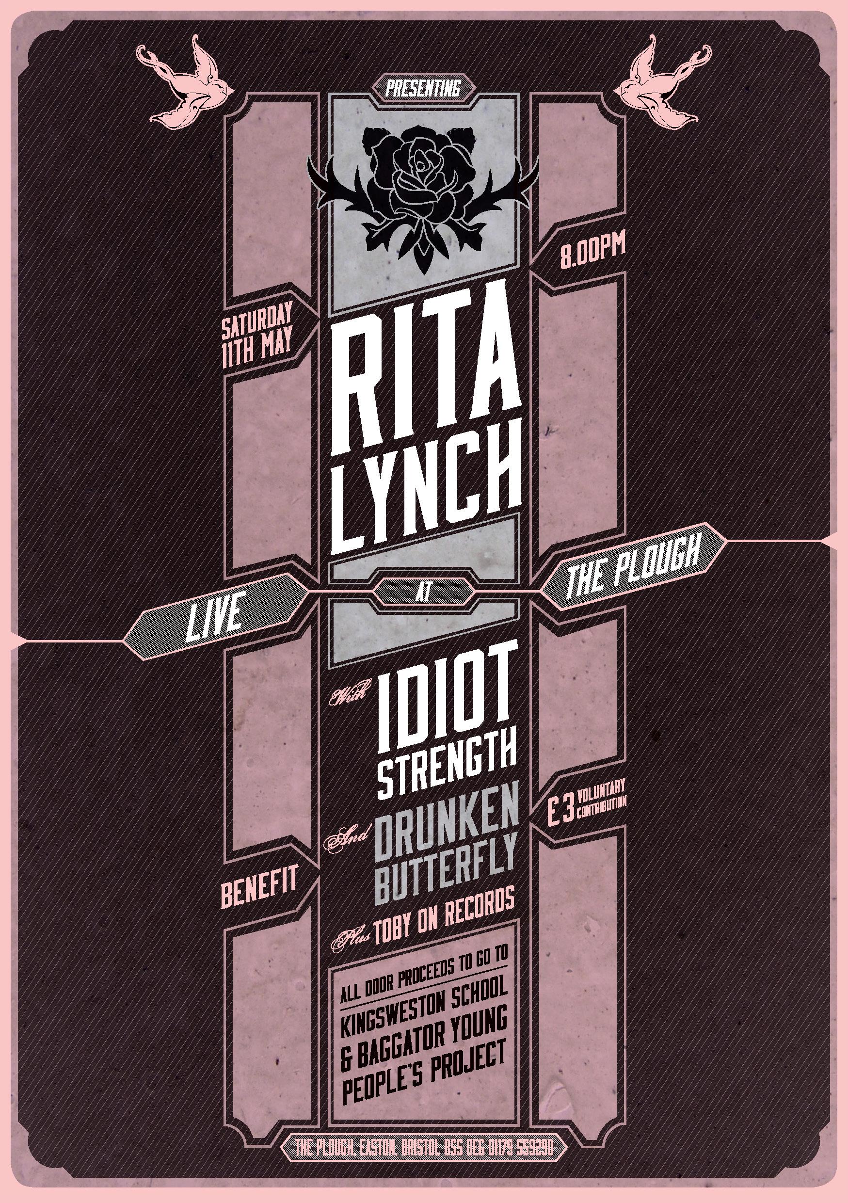 Rita Lych Benefit Gig - Saturday 11th May